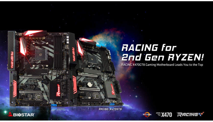 BIOSTAR Presents Gaming Enthusiast RACING X470GT8 Motherboard
